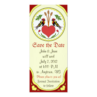 Save the Date, light - Long Happy Relationship Hex 10 Cm X 24 Cm Invitation Card