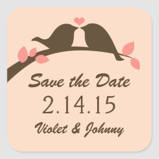 Save the Date Love Birds Stickers