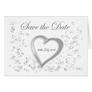 Save the Date Lovehearts Card