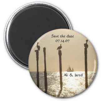 Save the date magnet- beach/destination wedding magnet