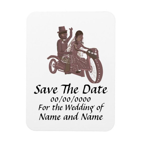 Save The Date Magnet Biker weddings