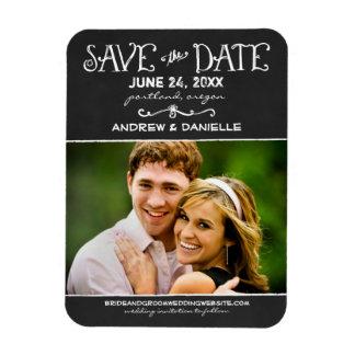 Save the Date Magnet | Black Chalkboard
