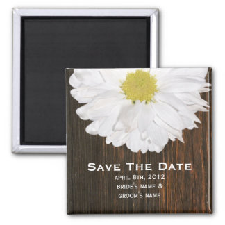 Save The Date Magnet - Daisy & Barnwood