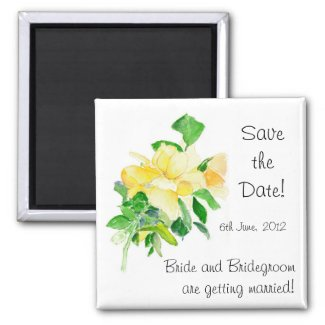 'Save the Date' Magnet, Dreaming Spires Roses