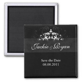 Save the Date Magnet Embellishment Black White