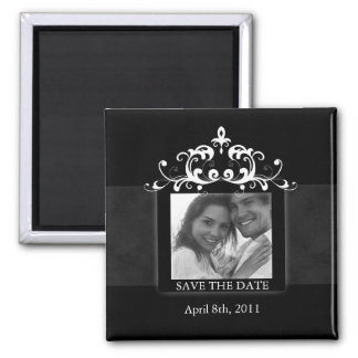 Save the Date Magnet Embellishment Black White 2
