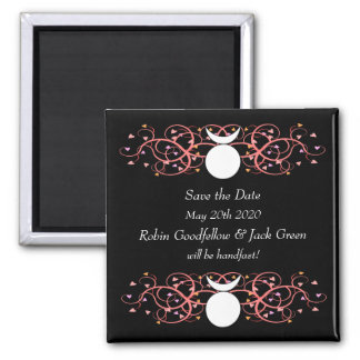 Save the Date Magnet for Gay Wiccan Grooms