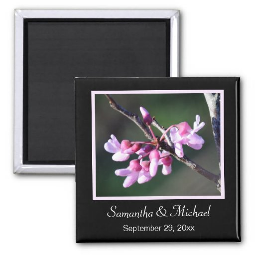 Save the Date Magnet ~ Redbud Flowers