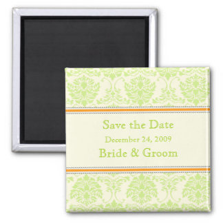 Save the Date Magnet, vanilla mint chocolate Square Magnet