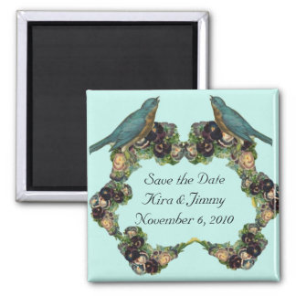 Save the Date Magnet Victorian Love Birds