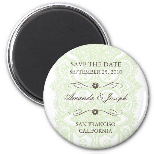 Save The Date Magnet-Vintage Blossom
