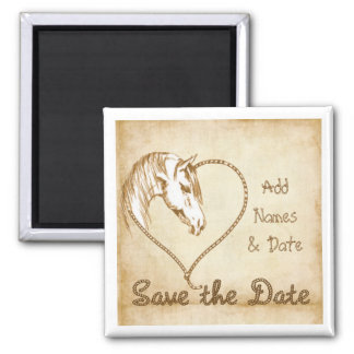 Save the Date Magnets Western Wedding Fridge Magnet