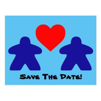 Save The Date Meeple Invitations Postcard