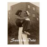 Save the Date Military Wedding Postcard