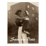 Save the Date Military Wedding Postcards