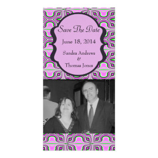 Save the Date Mod Pink Mauve Personalized Photo Card