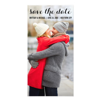 Save The Date Modern Engagement Photo Card B LV