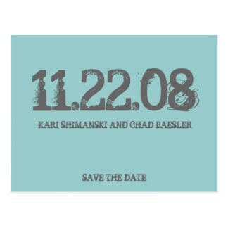 Save the date modern post cards