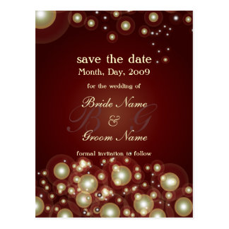 Save the Date, monogram + champagne bubbles Postcard