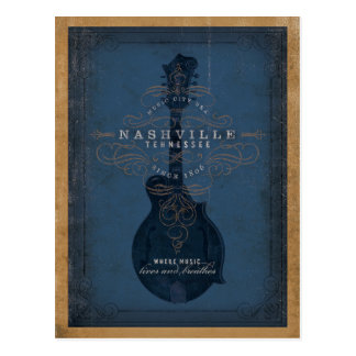 Save the Date   Nashville, TN - Blue Mandolin Postcard