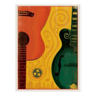 Save the Date   Nashville, TN - Mandolin Guitar Postcard