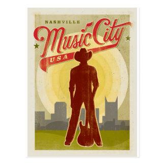 Save the Date   Nashville, TN - Music City USA Postcard