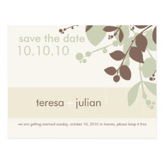 SAVE THE DATE :: native 5 Postcard