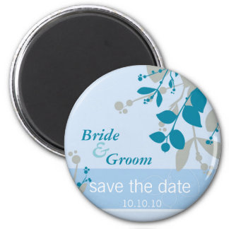 SAVE THE DATE nature - pale blue silver teal Fridge Magnet