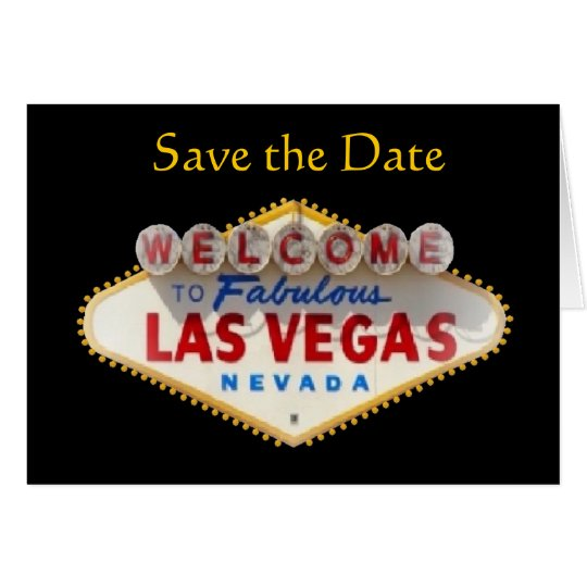 Save the Date New Las Vegas Logo Card