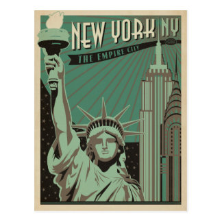 Save the Date   New York - The Empire City Postcard
