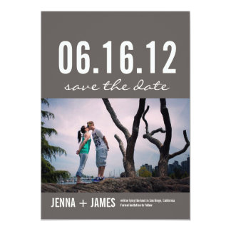 Save the Date No. 2 13 Cm X 18 Cm Invitation Card