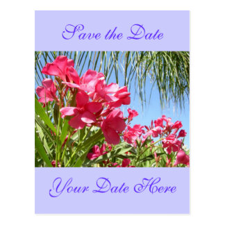 Save the Date Oleander Post Card