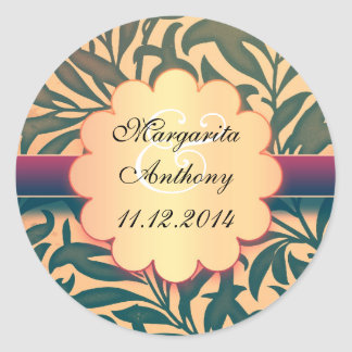 save the date or engagement vintage stickers