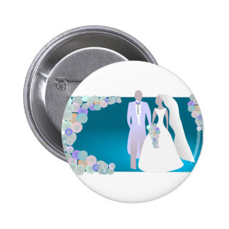 Save the Date or Wedding Print 6 Cm Round Badge