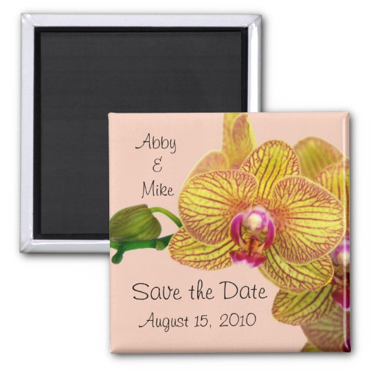 Save the Date - Orchid Magnet pink