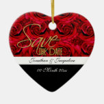 save the date ornament invitation