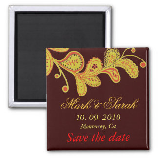 Save the Date Paisley Chocolate Magnet