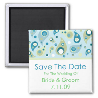 Save The Date - Paisley Magnet