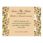 Save the date peach orchid - customisable template