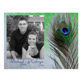 Save the Date - Peacock Postcard