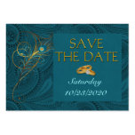 Save the Date Peacock Wedding Cubby Mini Cards Business Card Templates