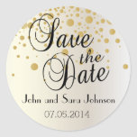 Save the Date   Personalise Round Sticker