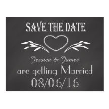 Save the Date, Personalise Stationary Postcard