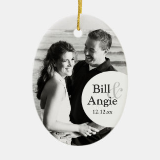 Save The Date Personalized Photo Ornament