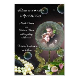 Save the date photo card crystal Ball 9 Cm X 13 Cm Invitation Card