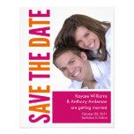 Save The Date Photo Card Pink & Orange Invite