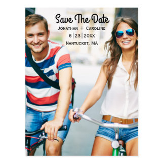 Save the Date Photo Card | Trendy, Modern, Casual Postcard