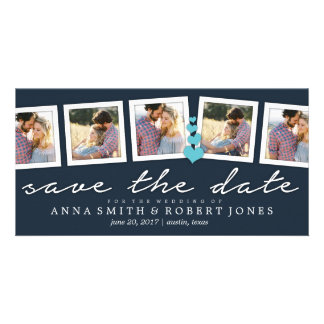 Save the Date Photo Collage Annoucements  WEDDINGS Personalized Photo Card