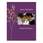 Save the Date Photo postcards, love birds