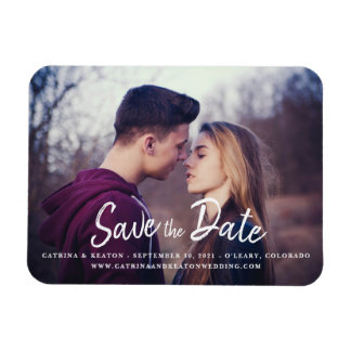 Save the Date Photo Print Template Magnet